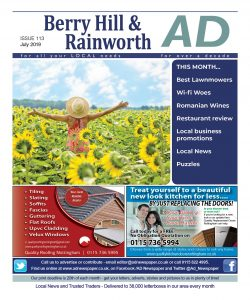 Ad Newspaper Berry Hill Mansfield Nottingham July 2019