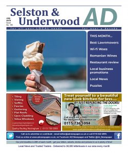 Ad Newspaper Selston and Underwood Mansfield Nottingham July 19