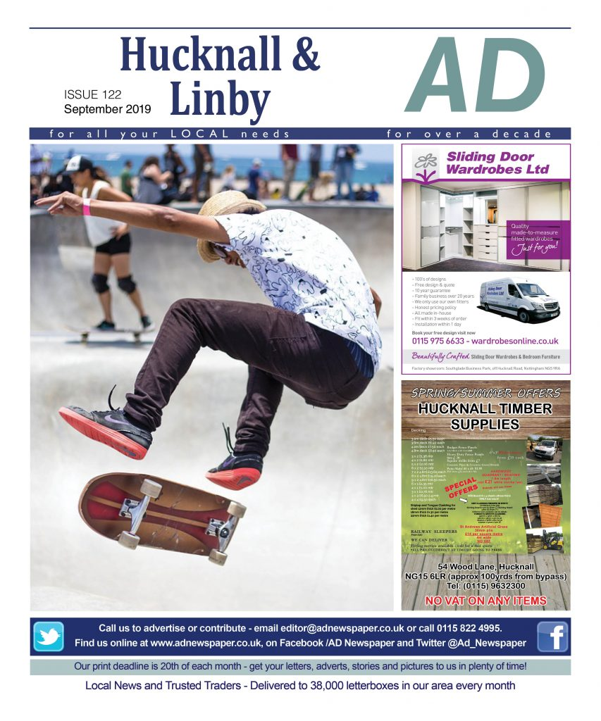 Ad Newspaper For Hucknall and Linby Mansfield Nottingham september 19