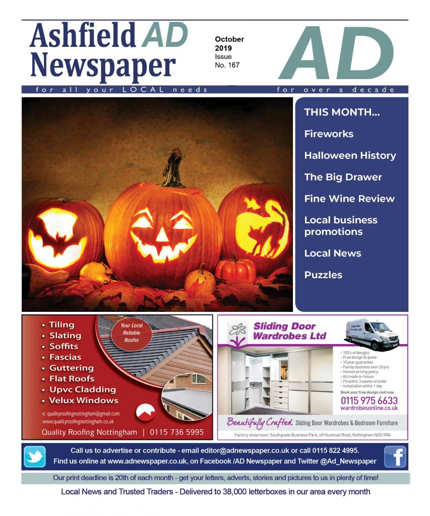 Ad Newspaper for Kirkby in Ashfield Mansfield Nottingham october 19