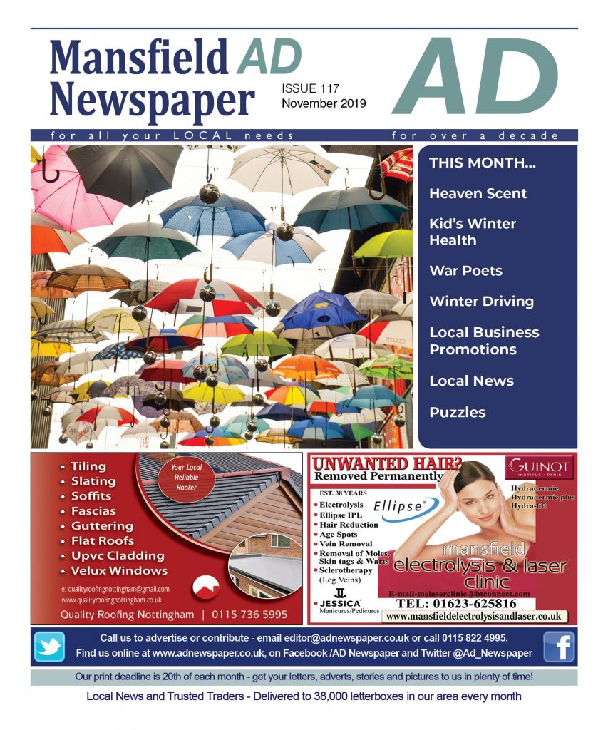 advertising magazine for mansfield nottingham november 2019
